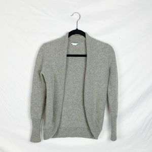 J. Crew Gray 100% Cashmere Cocoon Cardigan Small